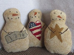 DDD Americana Snowmen Punch Needle