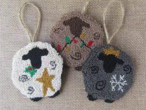DDD We Three Sheep Punch Needle