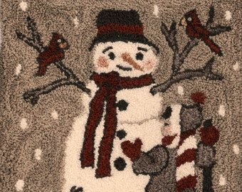 FD Snow Day Punchneedle