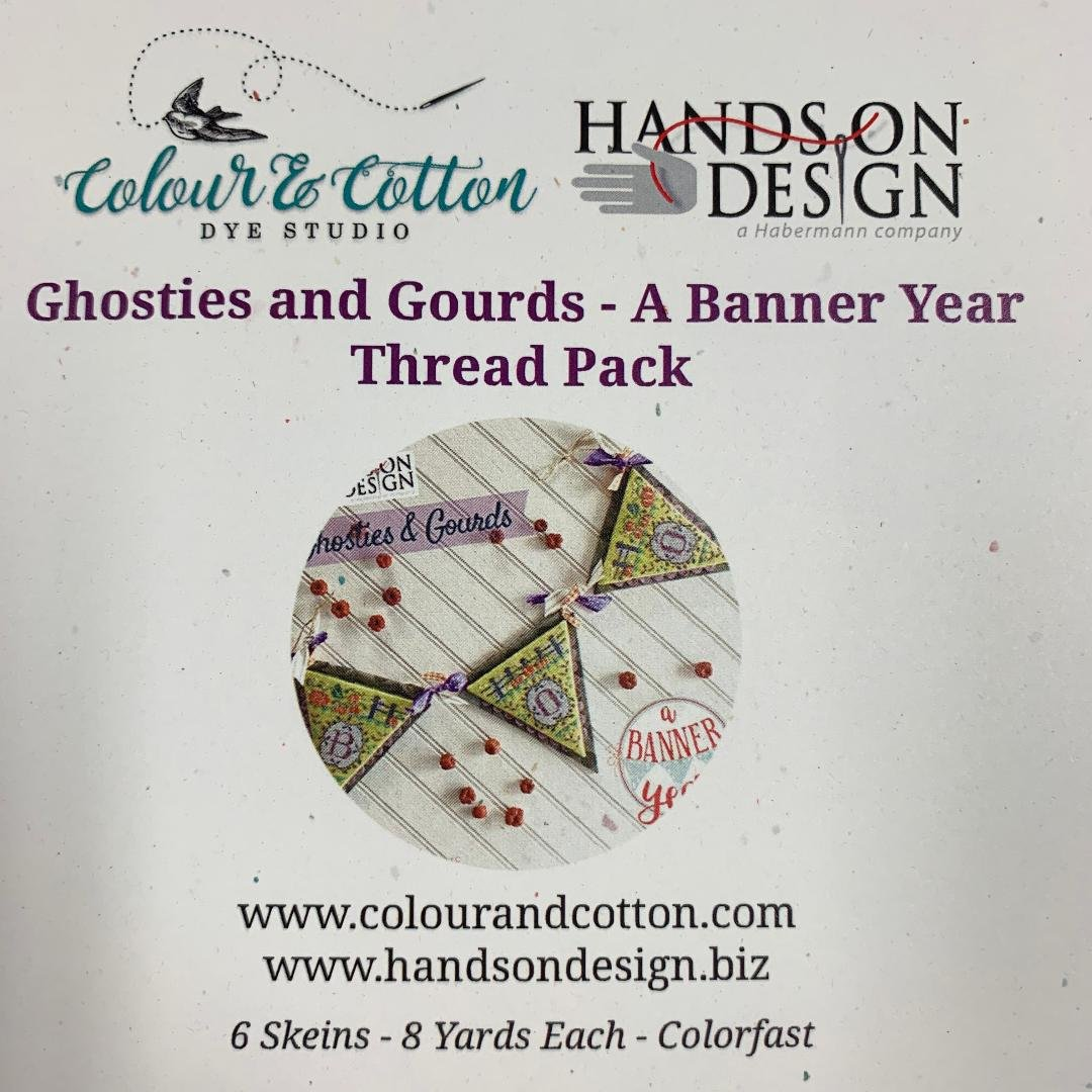 C&C Hands On Design Ghosties and Gourds- A Banner Year Thread Pack