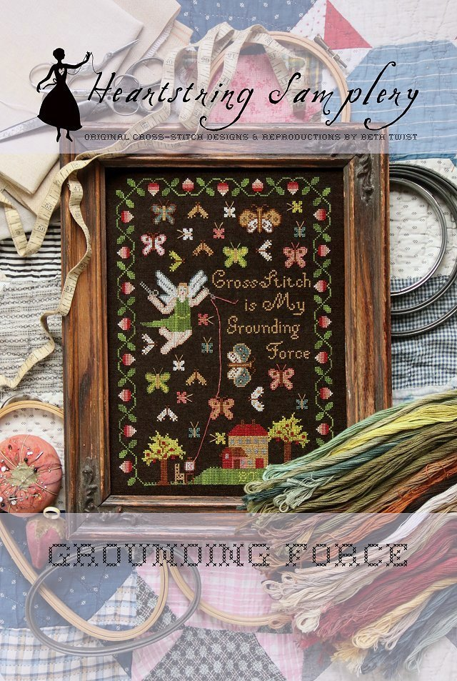 NEW at NEEDLEWORK EXPO Springtime Pin Drum by Heartstring Samplery
