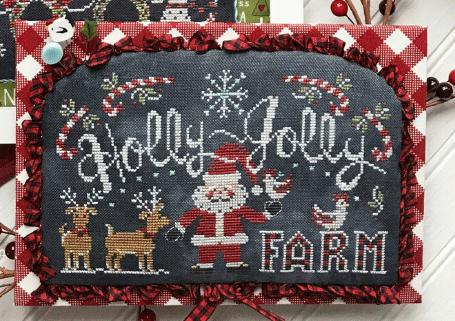 Holly Jolly Farm Cross Stitch Chart