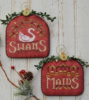 HD Swans & Maids 12 Days of Christmas