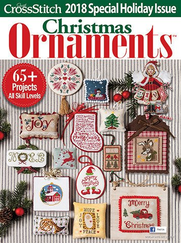 Just Cross Stitch Christmas Ornaments 2018