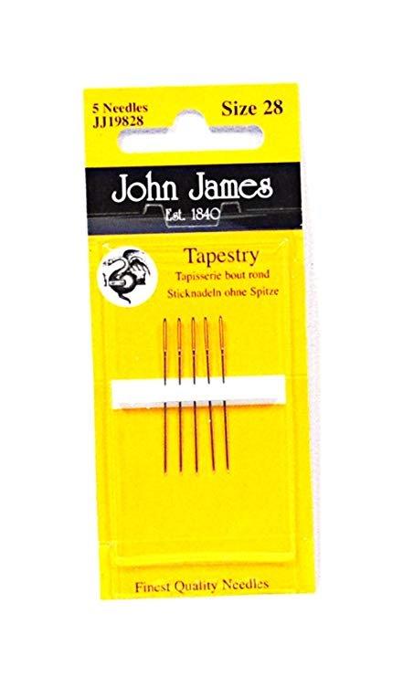 John James Sz 28 Tapestry Needles JJ19828