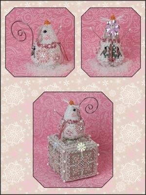 JN Crystal Snowlady Mouse Ltd Edition Ornament