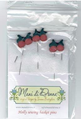 MDD Holly Sewing Basket Pins