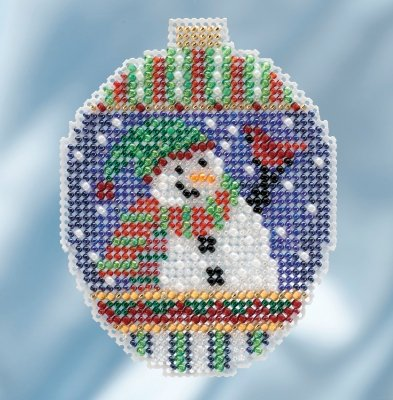 MH Snowman Greetings Beaded Holiday