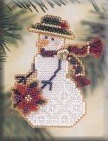 MH Poinsettia Snow Charmer