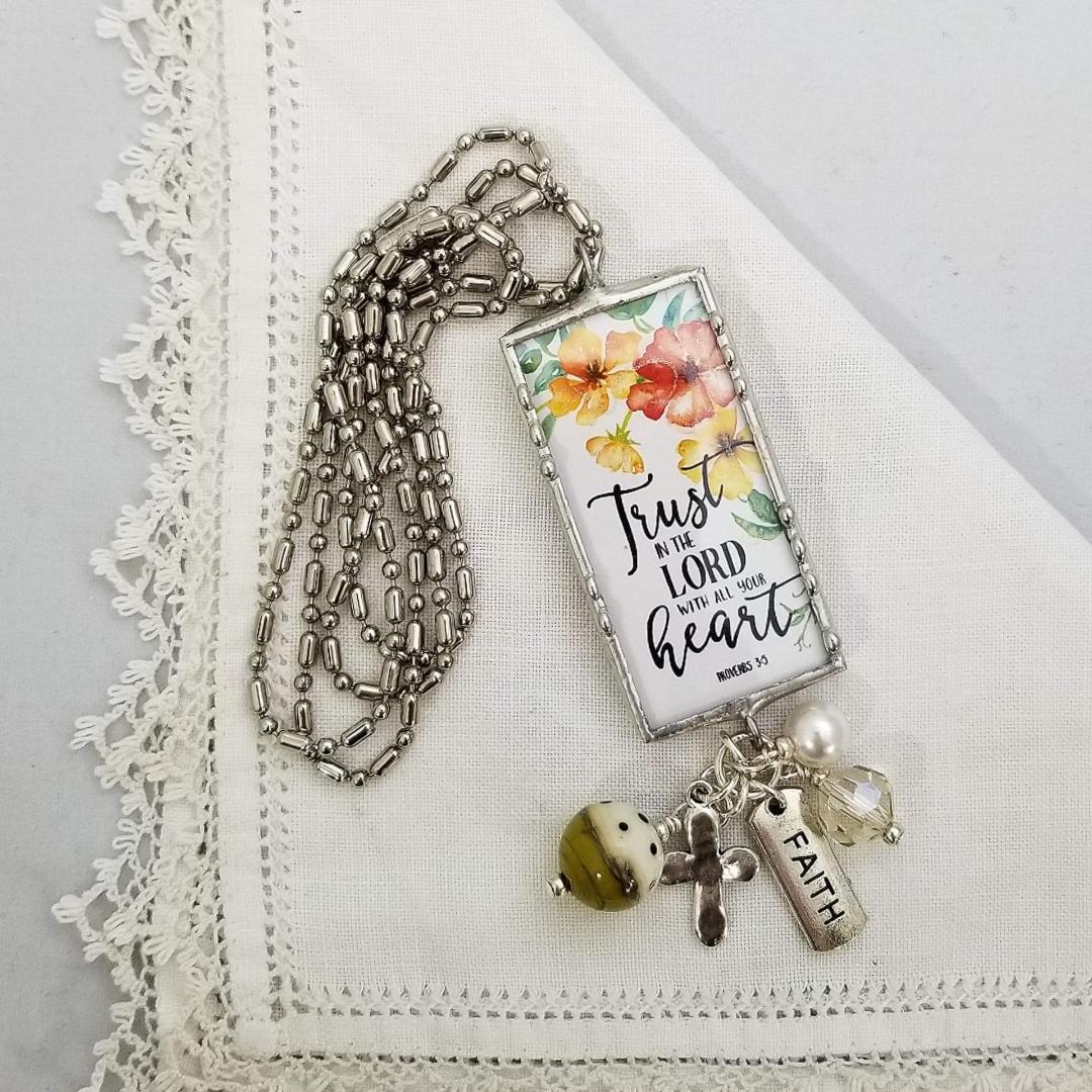 Charm Necklace 2 Sided - Faith