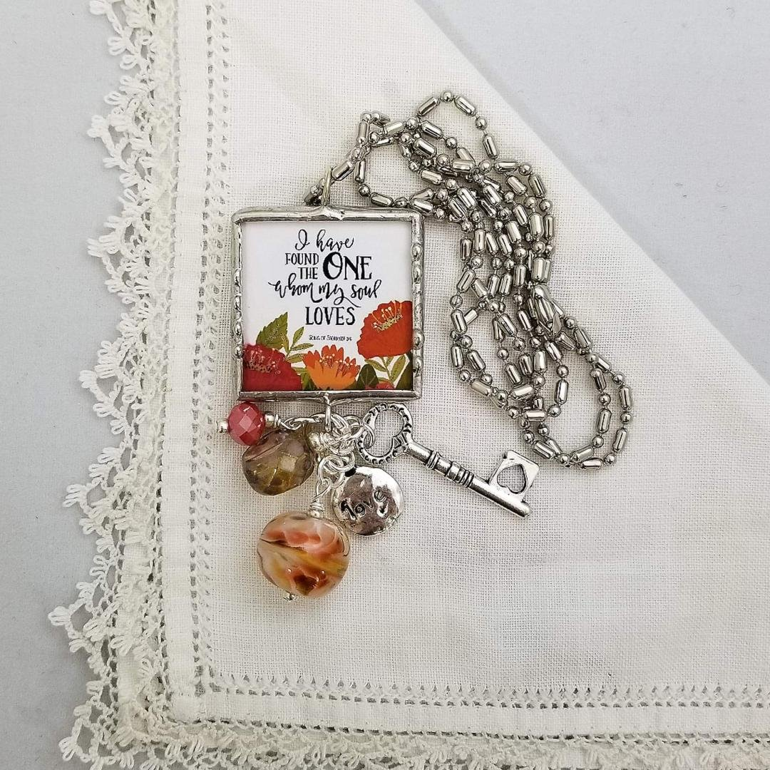 Charm Necklace 2 Sided - Love