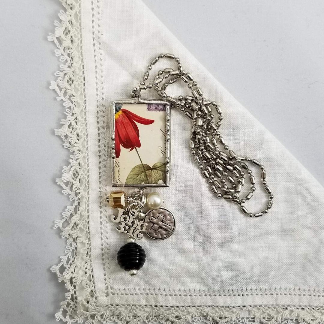 Charm Necklace 2 Sided - John 3:16