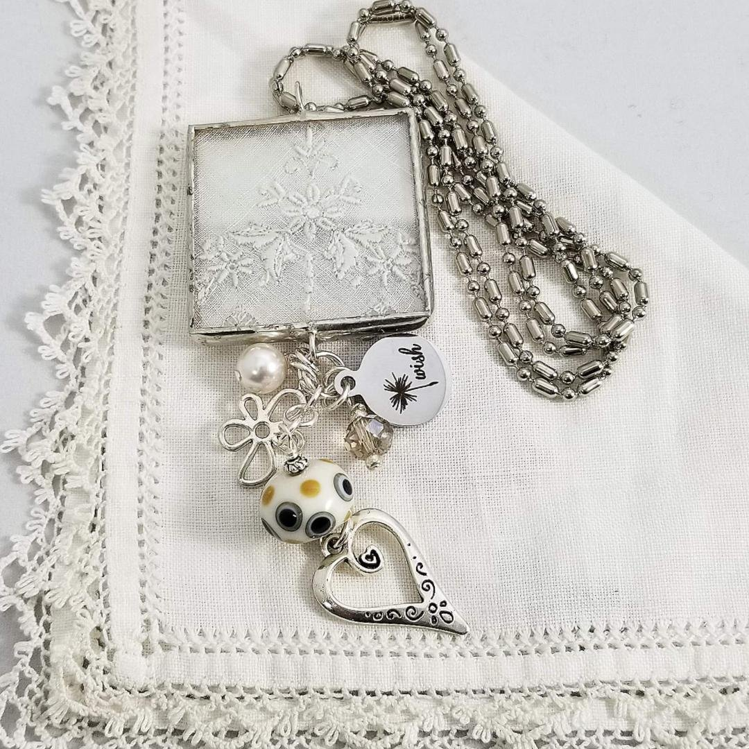 Charm Necklace - Square Wish