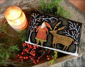 NF Santa Deer Punch Needle