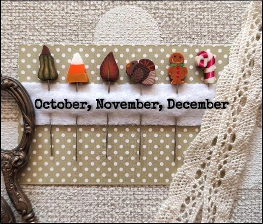 PP When I Think Of October, November, December Pin Set
