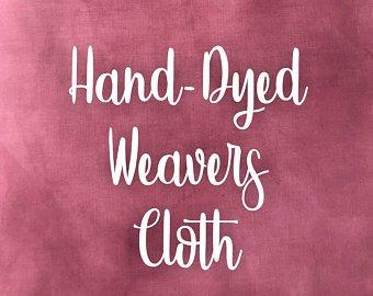 Raspberry Hand-dyed Weavers Cloth