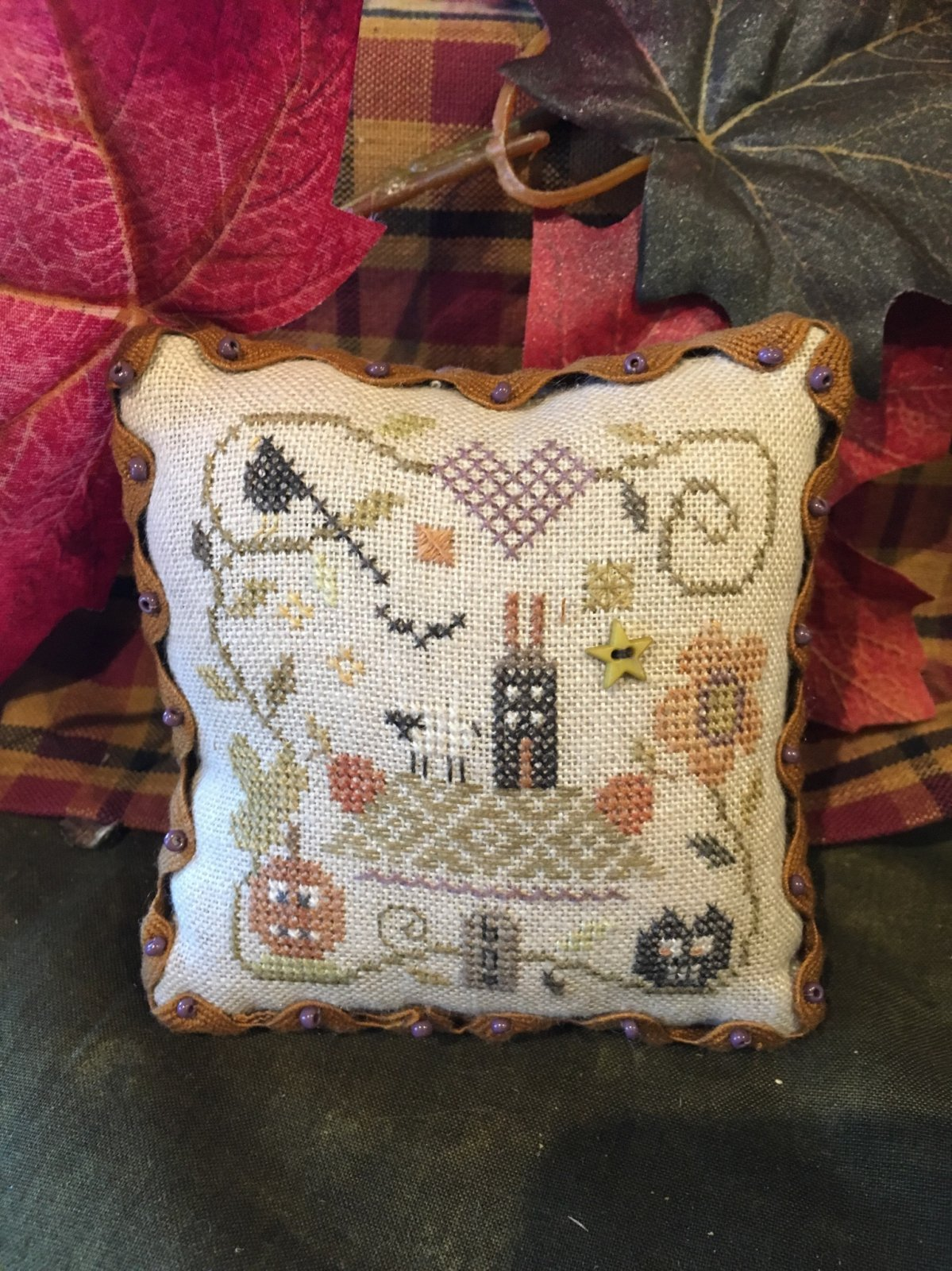 SB October Pin Cushion