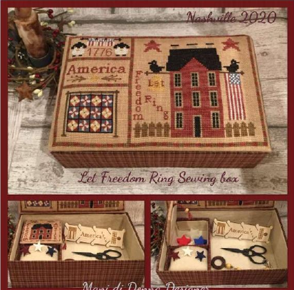 MDD Let Freedom Ring Sewing Box