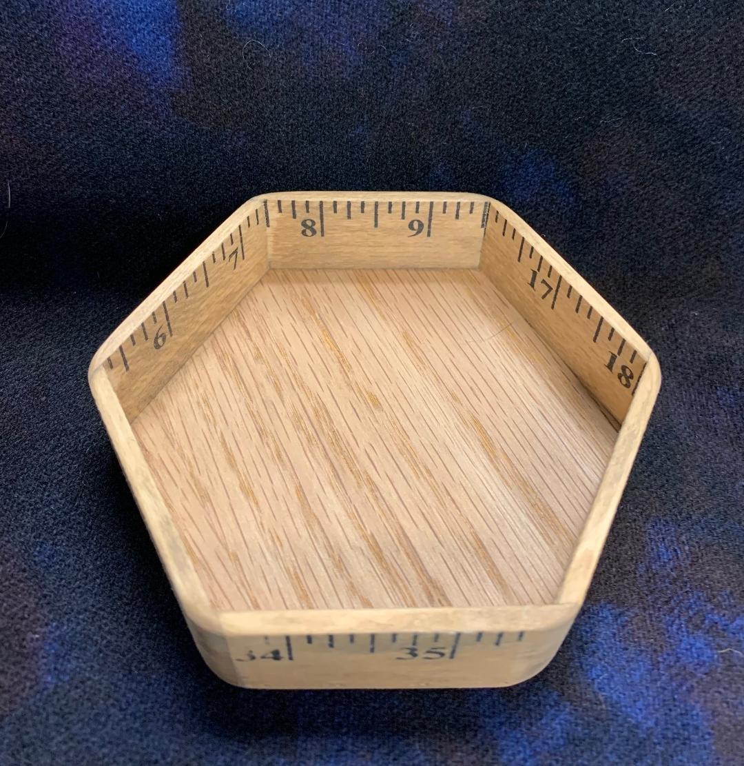 Wooden Ruler Hexagon Tray