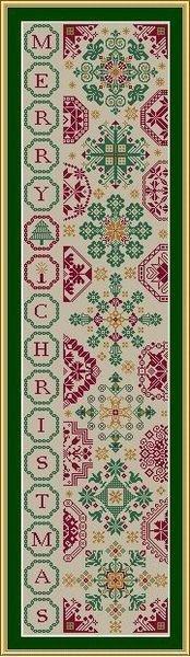 WS Christmas Quaker Bellpull