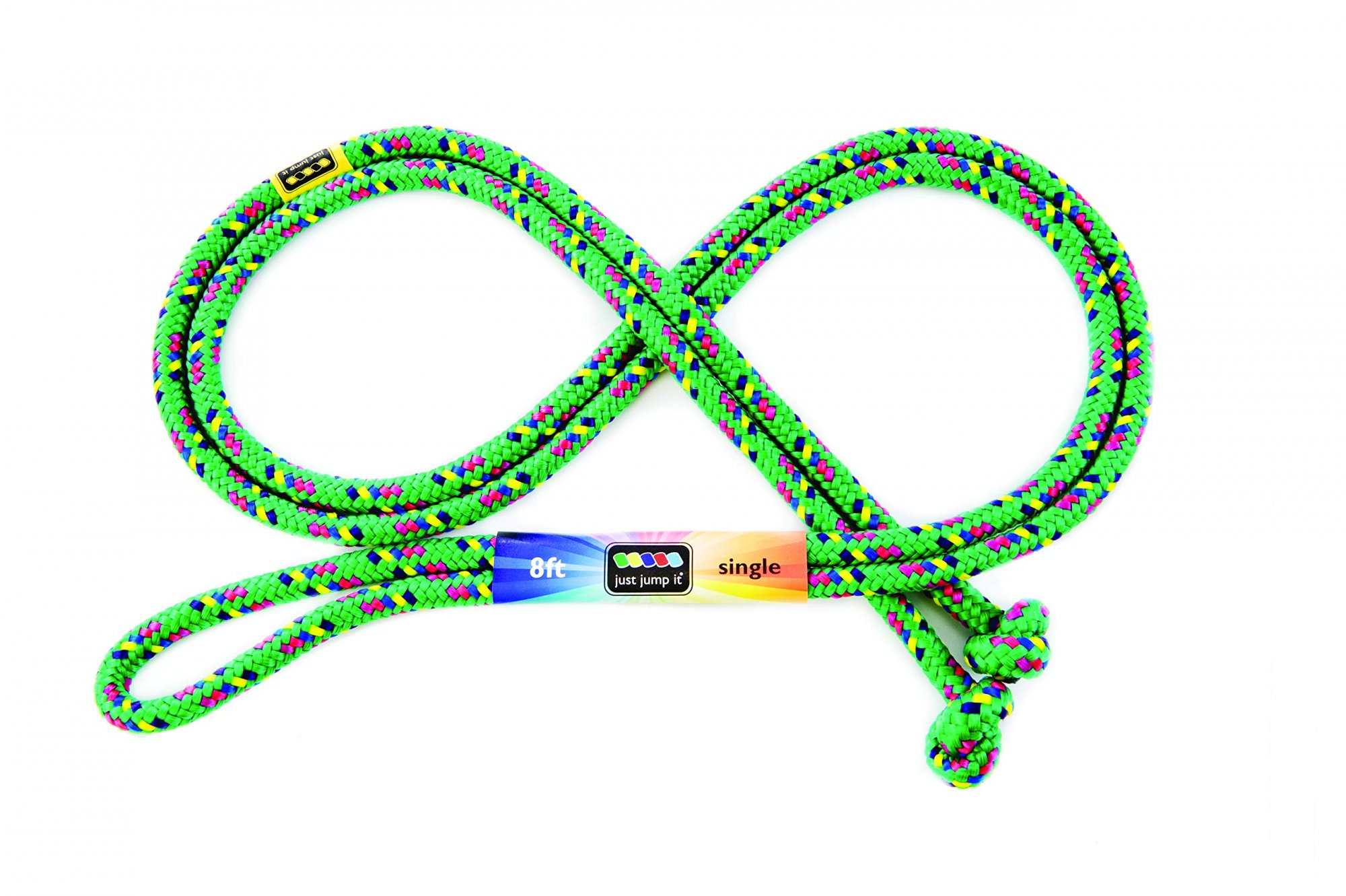 8ft Jump Rope- green confetti