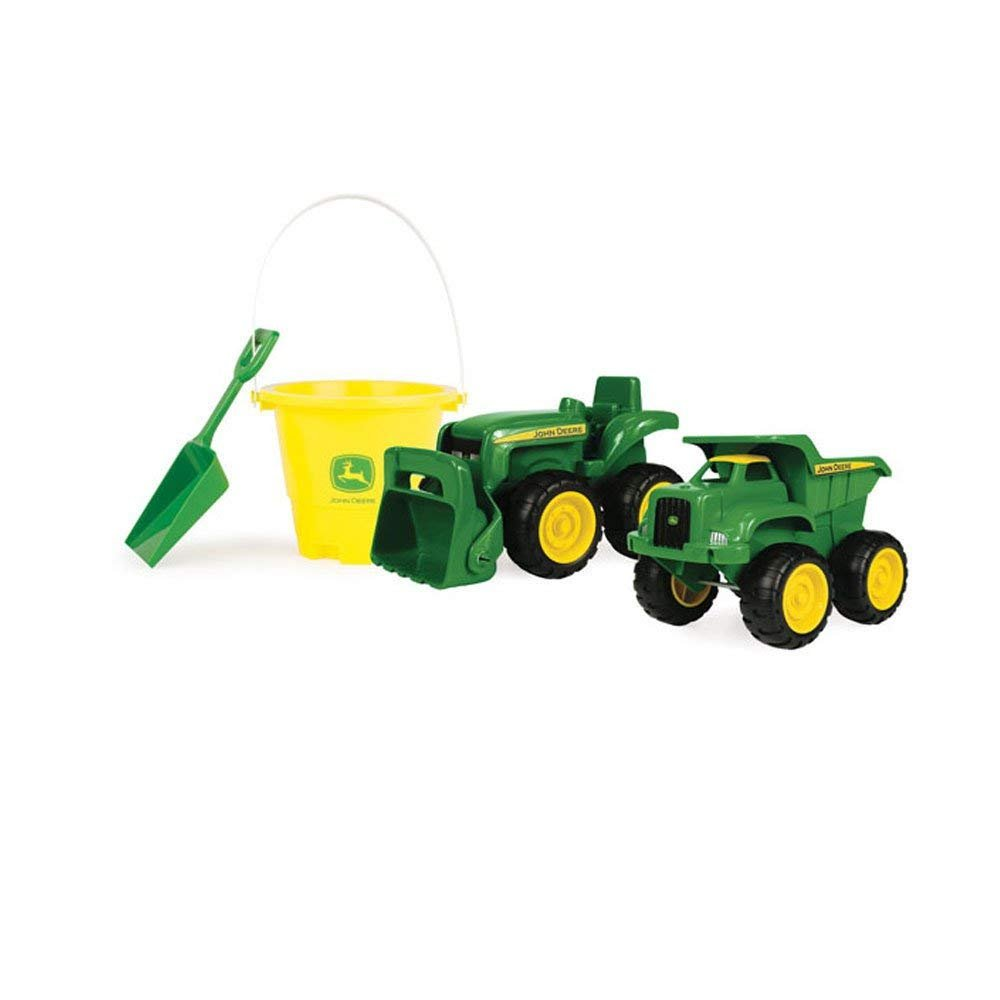 John Deere 2 pk Dump Truck and Tractor with Pail