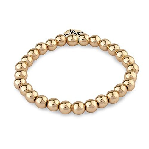 Charm It! 6MM Gold Bead Stretch Bracelet