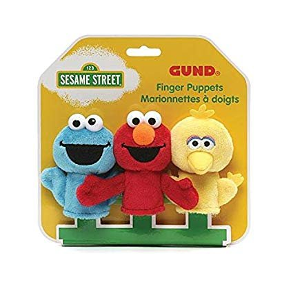 GUND Sesame Street Finger Puppets Set of 3 Elmo, Big Bird