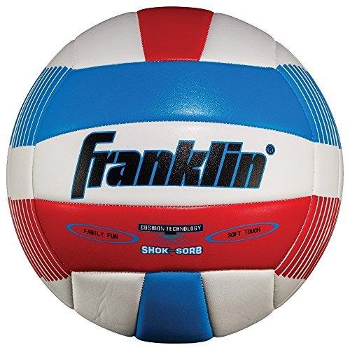 FRANKLIN Softspike Beach Volleyball Red-Navy Stripe