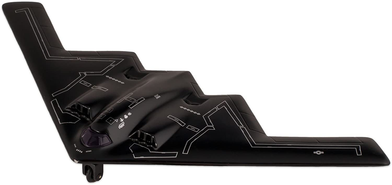 Black X-Planes Air Force B-2 Stealth Bomber Die Cast Jet Plane Toy with Pull Back Action