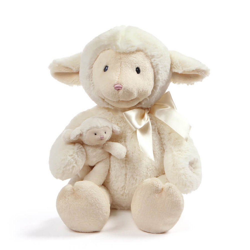 "Baby GUND Animated Talking Nursey Time Lamb with 5 Nursery Rhymes, 10"""