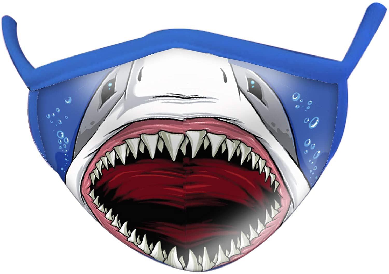 Wild Smiles 2 Ply Cotton Face Mask Shark