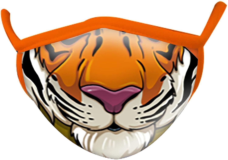 Wild Smiles 2 Ply Cotton Face Mask Tiger