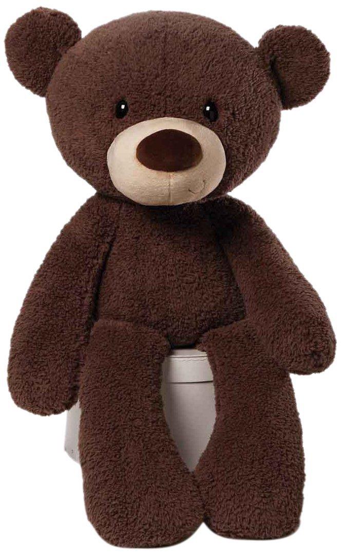 GUND Fuzzy Teddy Bear Jumbo Stuffed Animal Plush, Chocolate Brown, 34