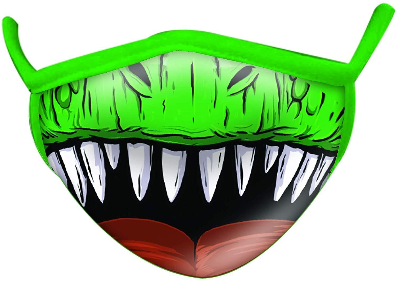 Wild Smiles 2 Ply Cotton Face Mask T Rex Dinosaur