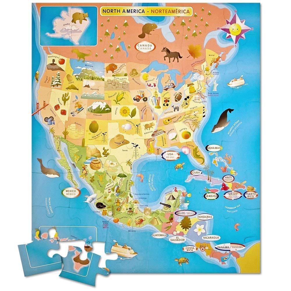 Ingenio North American Map Puzzle