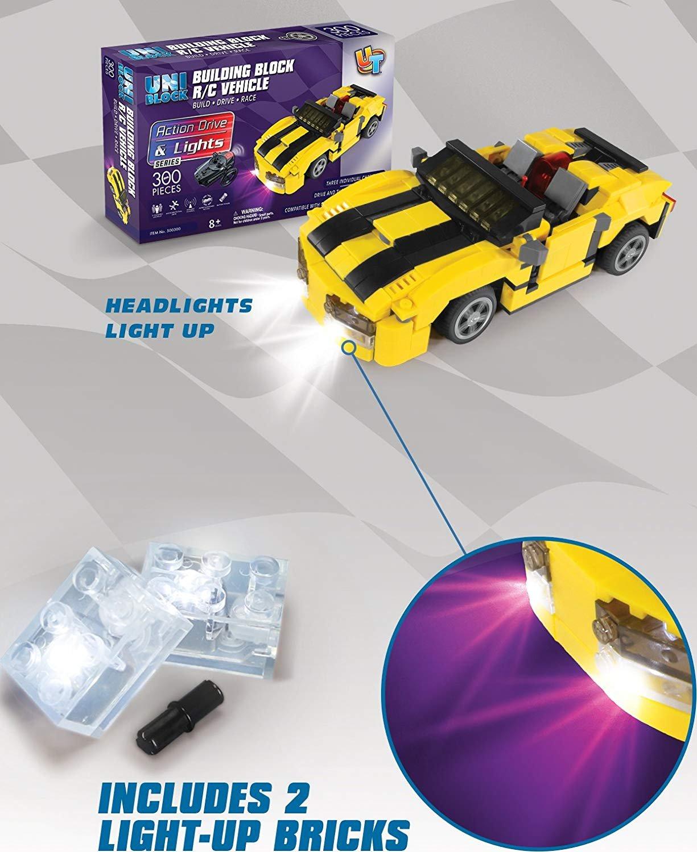 Uniblocks Building Block R/C Vehicle 300 Pc set Action Action Drive and Lights