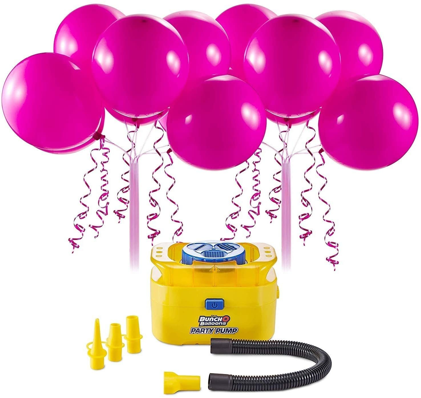 Zuru Bunch O Balloons Portable Party Balloon Electric Air Pump Starter Pack (Includes 16x 11 Inch Self-Sealing Pink Latex Balloons)