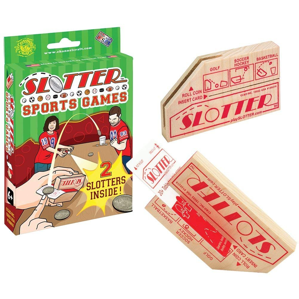Channel Craft Slotter Sports Game Set With 2 Slotters & Cards For 20+ Table-Top Coin Games