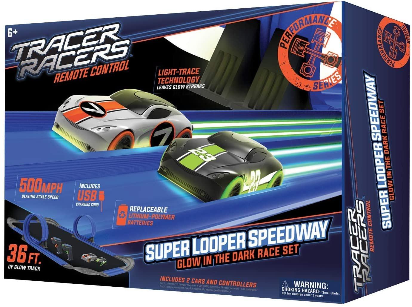 SD Toyz Tracer Racers Super Looper Speedway Glow in the Dark Raceway