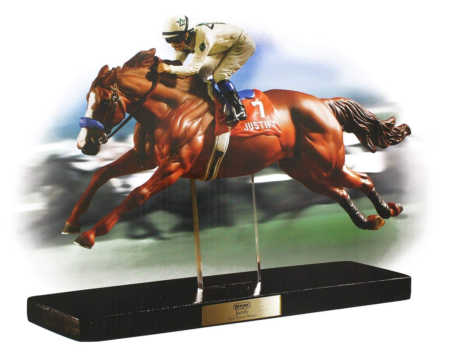 Breyer Horses Artist Resin Triple Crown Winner Justify