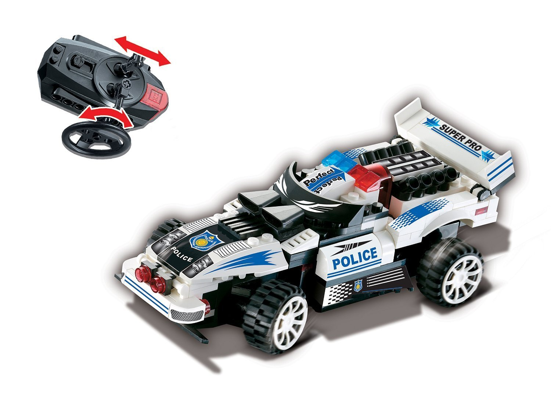 Uniblock Building Block R/C Car 121 pc Action Drive Police Car