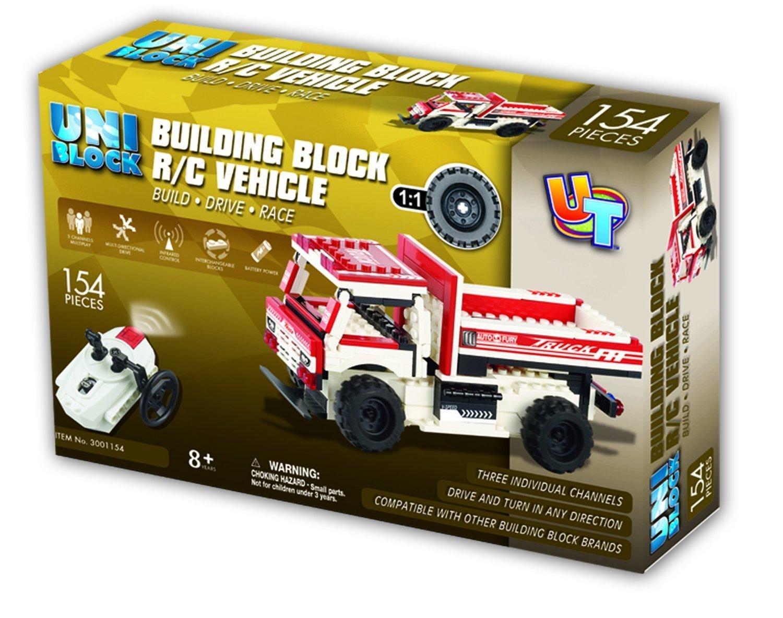 Uniblock Building Block R/C Car 154 pc Fire Truck