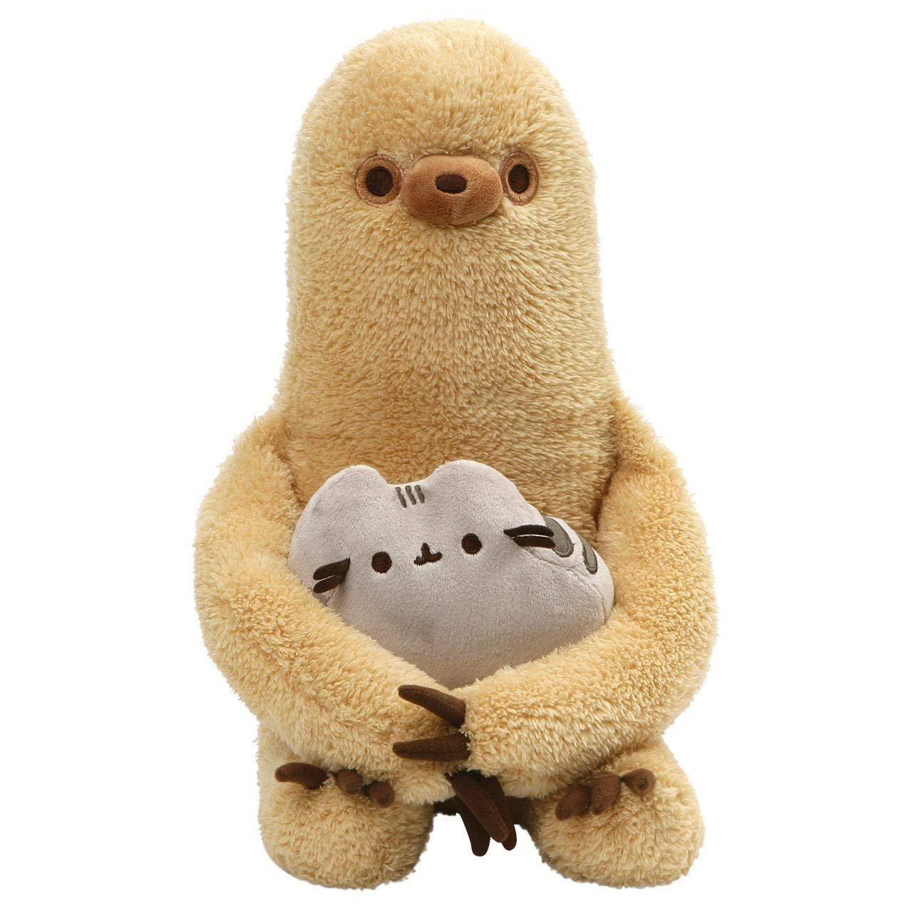 GUND Pusheen with Sloth Plush Stuffed Animal, Set of 2, Multicolor, 13
