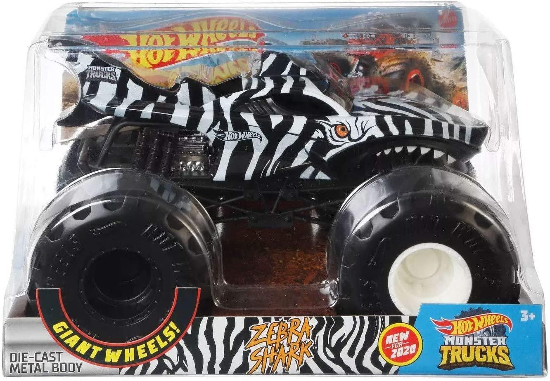 Hot WHeels Monster Truck 1:24 Zebra Shark