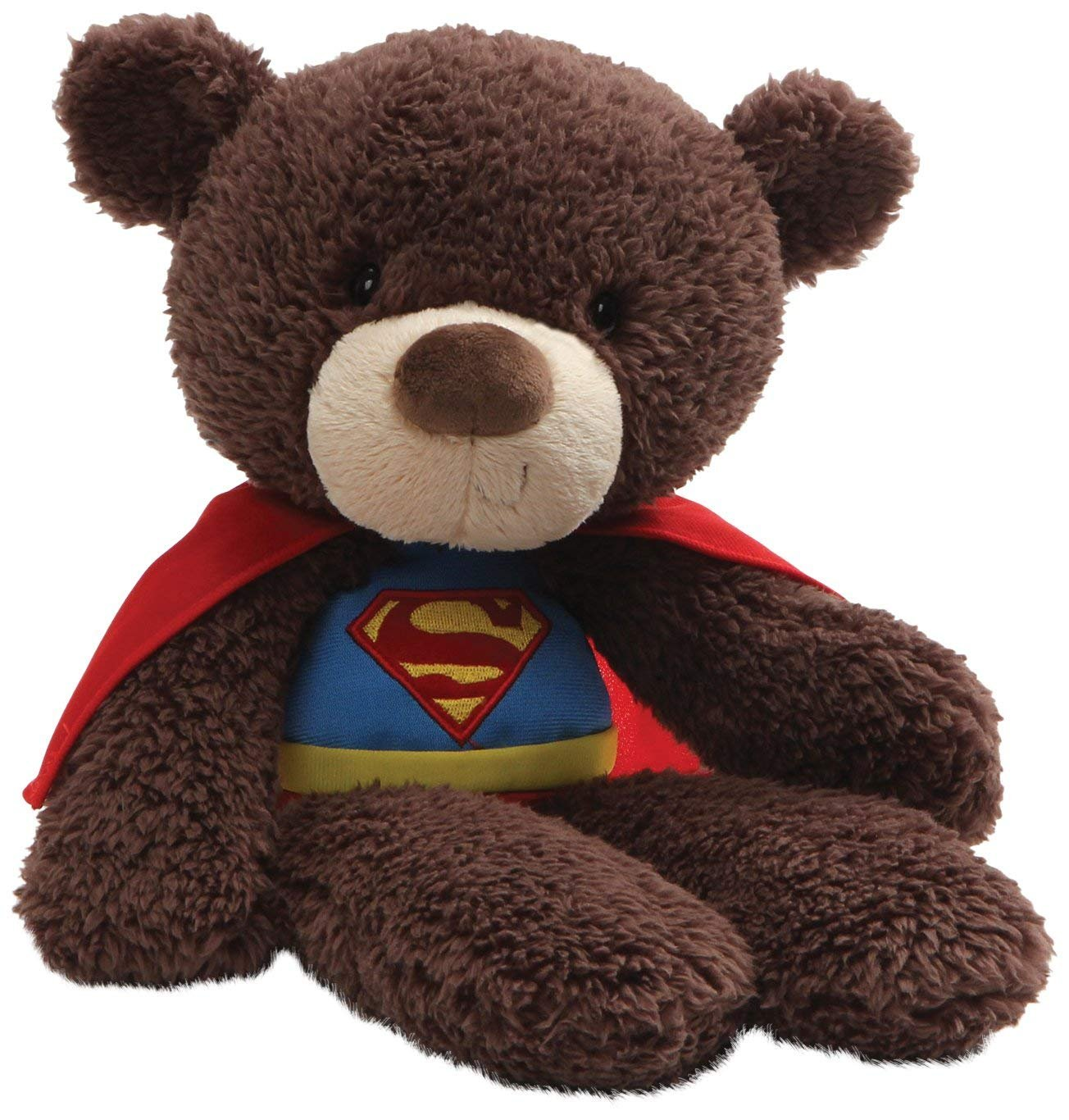 DC Comics Fuzzy 14 Super Man Teddy Bear Plush by Gund
