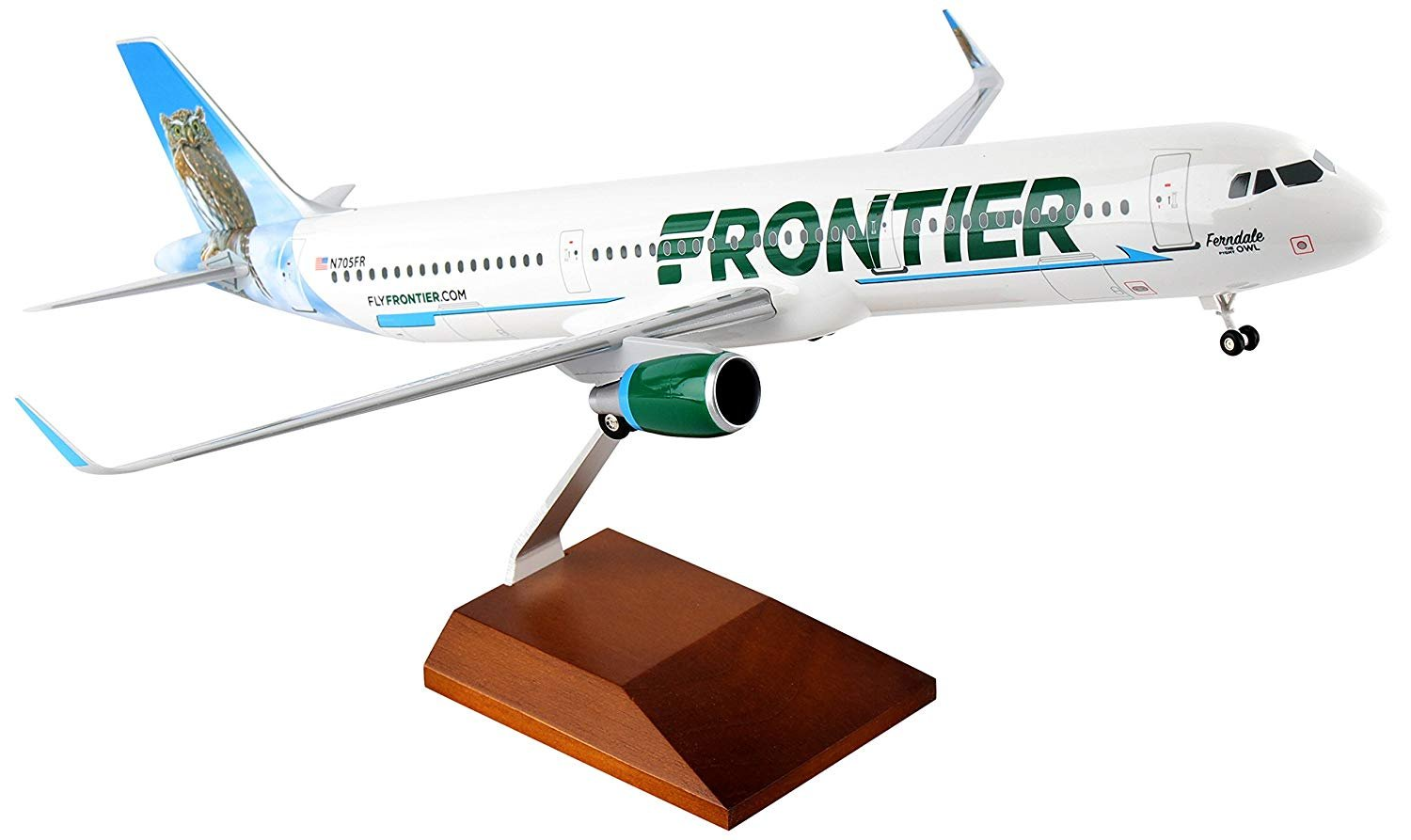 SkyMarks Collectable Airplane Frontier A321 Frendale Owl 1:100 Scale - copy