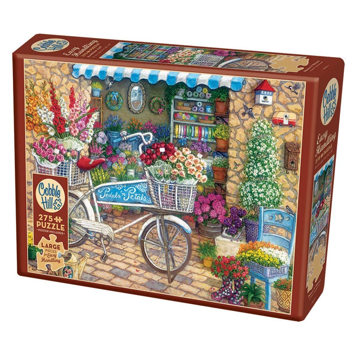 Cobble Hill 275pc  Easy Handling Pedal n Petals Jigsaw Puzzle