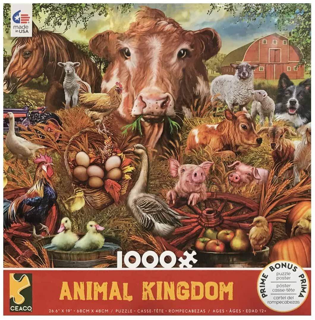 Ceaco Farm Animal Kingdom 1000 Piece Puzzle