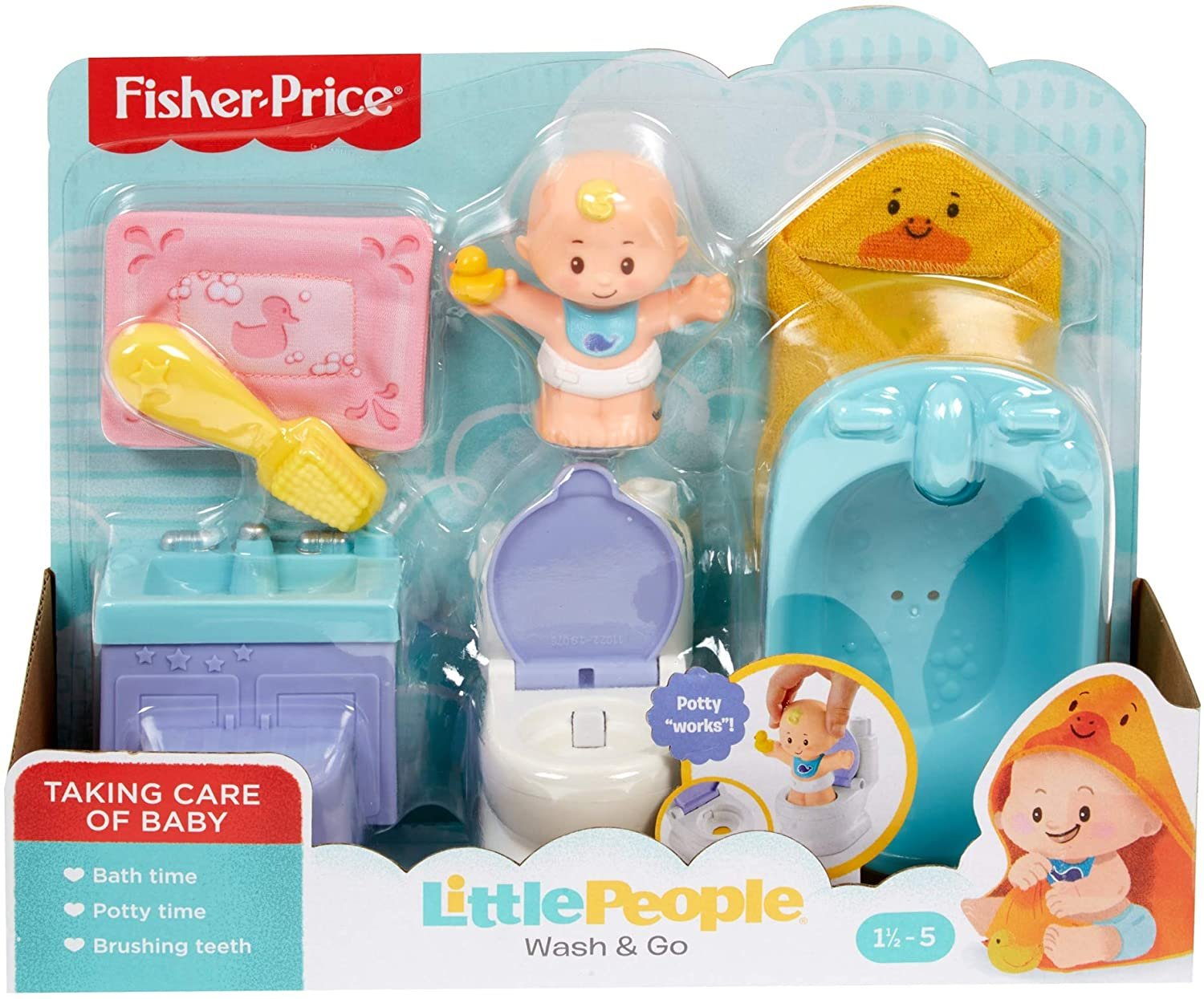 Fisher Price Little People Wash & Go Set -
